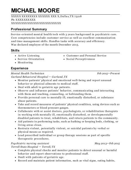 best psychiatric nursing assistant resumes