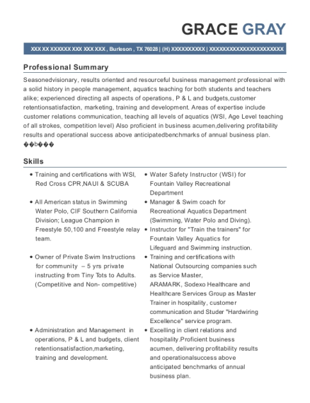 View Resume. Operations Manager