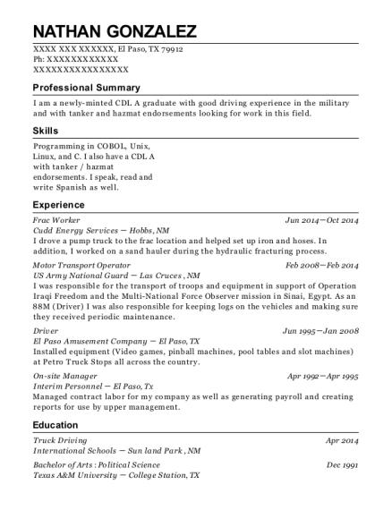 Contemporary Cudd Energy Services Resume Elaboration - Best Resume ...