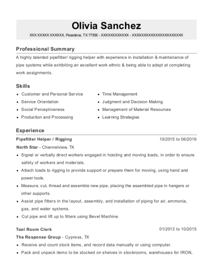 Best Tool Room Clerk Resumes | ResumeHelp