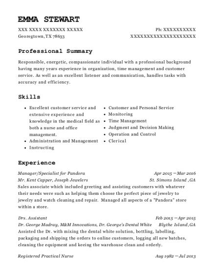 best specialist for pandora resumes resumehelp