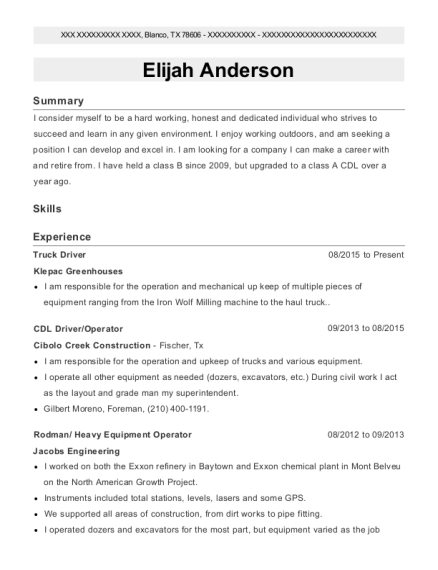 view resume - Resume For Heavy Equipment Operator
