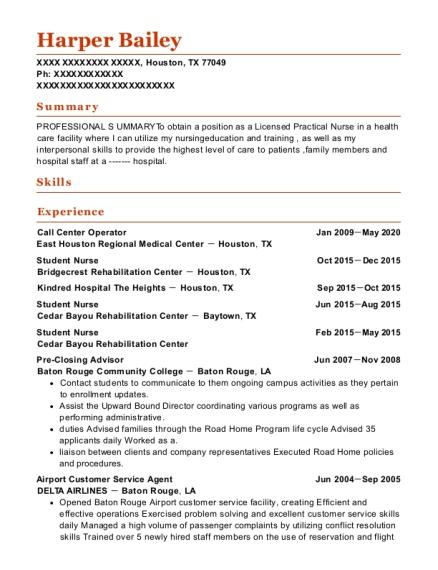 resume for passenger service agent