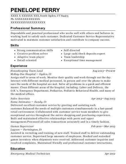 liberty house nursing home housekeeping resume sample