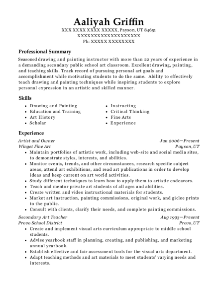 Human Resource Specialist Resume Aaliyah Griffin
