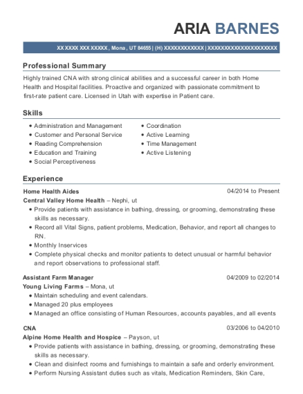 Assistant Farm Manager , Big Creek Construction. Customize Resume · View  Resume