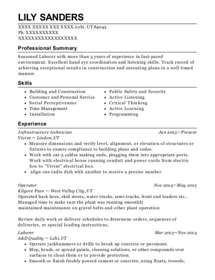 best infrastructure technician resumes resumehelp