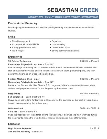 Best 3d Printer Technician Resumes | ResumeHelp