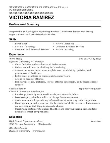 ryerson university work study resume sample cana virginia resumehelp