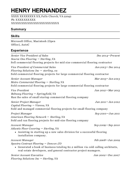 Power Line Services Senior Project Manager Resume Sample - Pelham ...