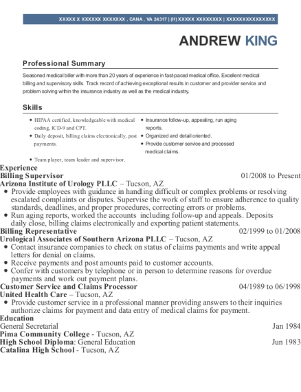 Billing Representative , PBS Account Coordinator. Customize Resume · View  Resume