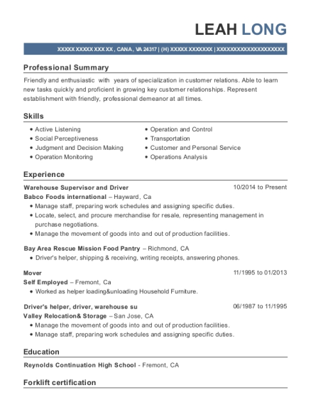 ups drivers helper resume sample brooklyn new york resumehelp