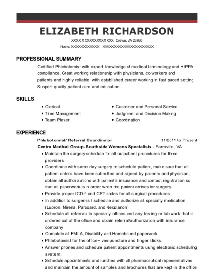 east texas medical center referral coordinator resume