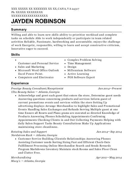 View Resume  sc 1 st  ResumeHelp & Best Door Greeter Resumes | ResumeHelp