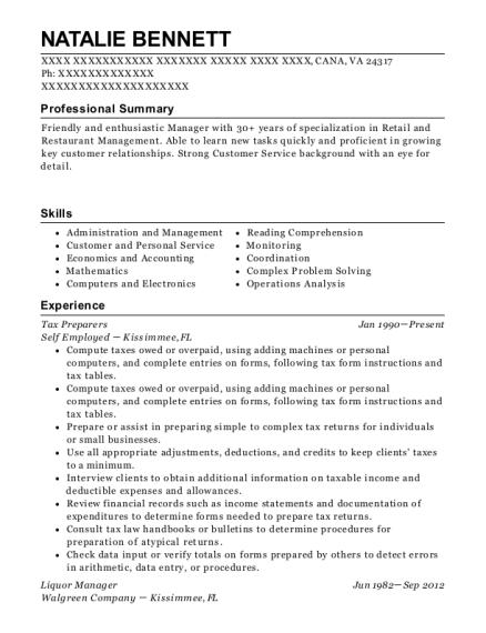H&r Block Tax Preparers Resume Sample - Enterprise Alabama | ResumeHelp
