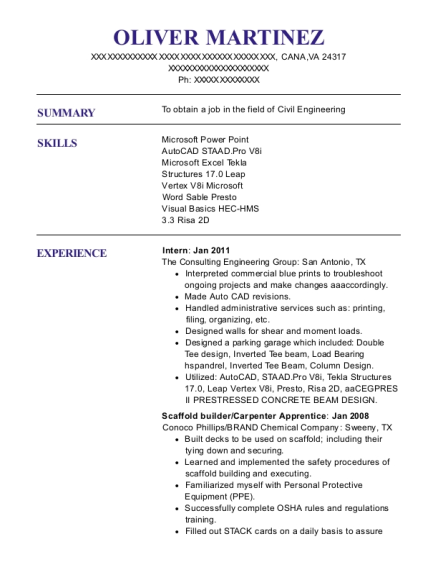 brand energy and infrastructure services scaffold builder resume sample