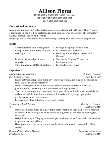 best stage manager resumes resumehelp
