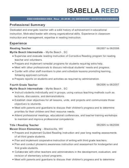best title i reading teacher resumes resumehelp