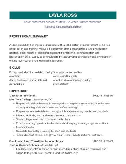 american modern insurance group training assistant resume