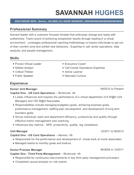 best senior operations analyst resumes