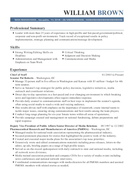 Best Press Secretary Resumes | ResumeHelp