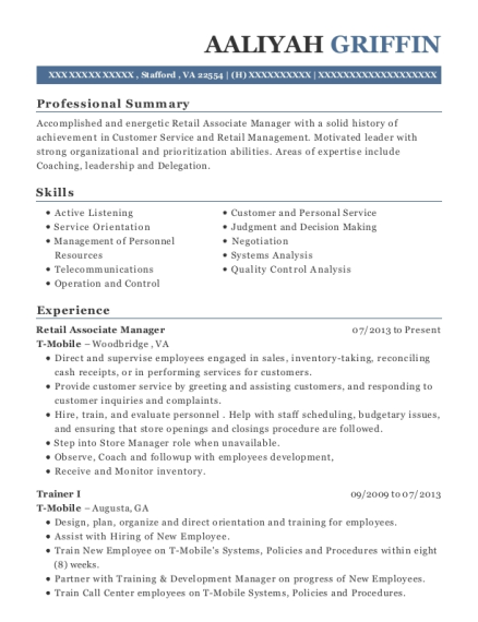 national government services trainer i resume sample anderson