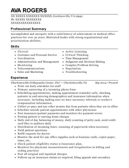 View Resume. Insurance Administrator