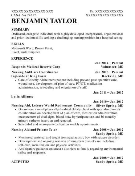 benjamin taylor - Private Tutor Resume