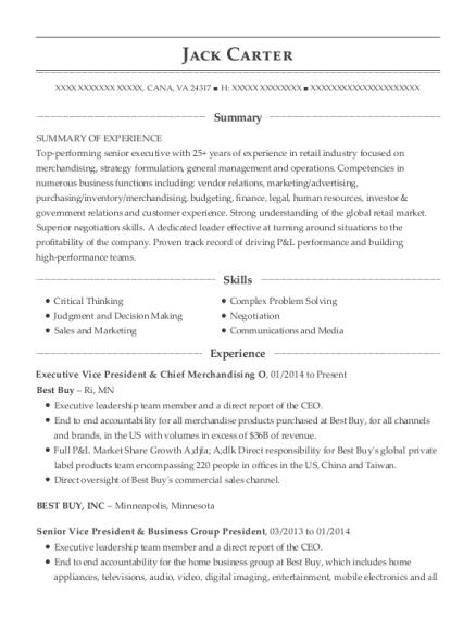 Best Senior Vice President & General Manager Resumes | ResumeHelp