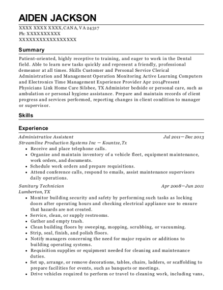 ... Dental Surgical Assistant. Customize Resume · View Resume