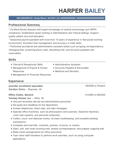 Exceptional View Resume. Provider Enrollment Specialist