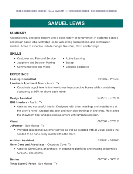 Senior Designer , Architect Assistant. Customize Resume · View Resume