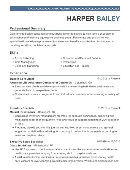 Best Executive Sales Specialist Resumes Resumehelp