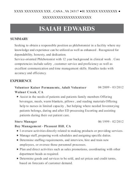 Best Volunteer Kaiser Permanente Resumes Resumehelp
