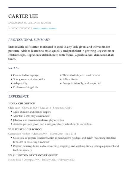 dr thomas lorenc child care resume sample
