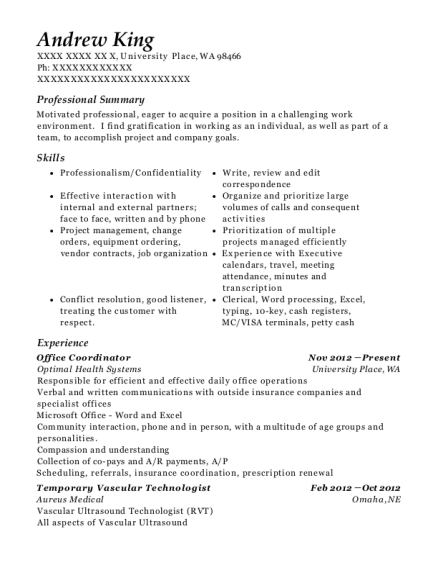 Andrew King   Lab Manager Resume  Lab Manager Resume