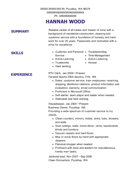 view resume - Home Depot Resume