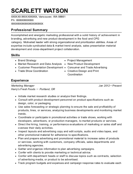 Affliction Assistant Brand Manager Resume Sample - Antioch Tennessee ...