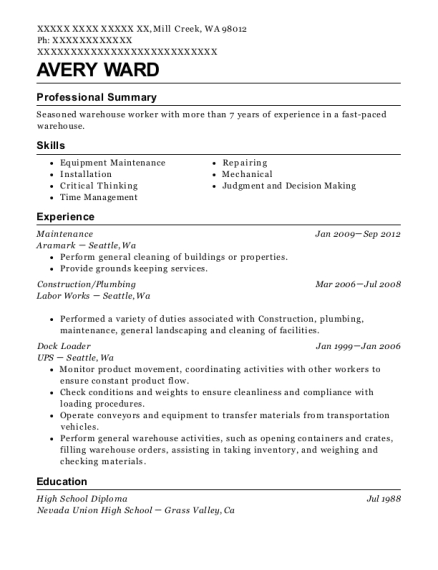 best plumbing resumes resumehelp