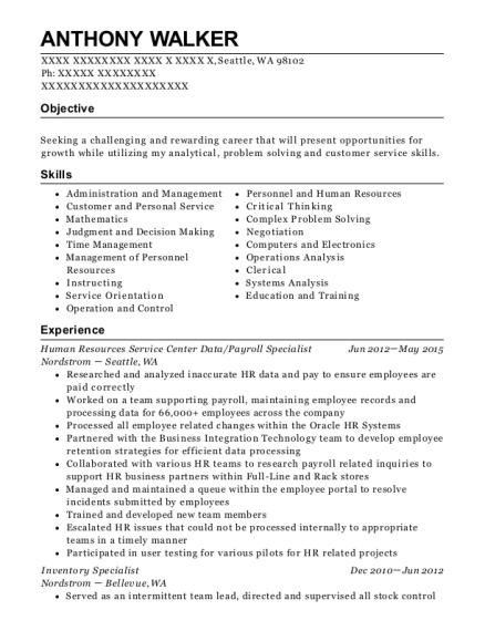 cities - Front Desk Attendant Sample Resume
