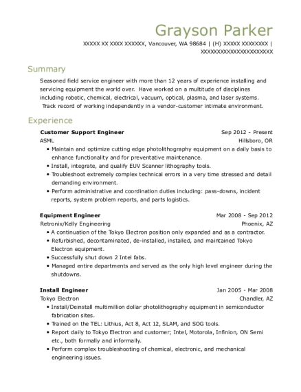 View Resume Customer Support Engineer