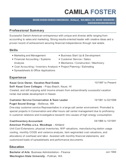 Best Inventory Accountant Resumes | ResumeHelp