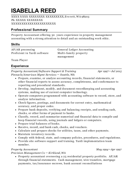 Best Property Accountant Resumes | ResumeHelp