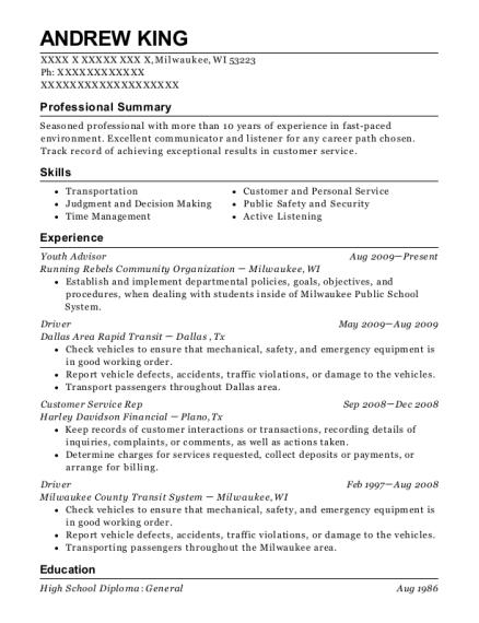 amazon flex driver resume sample