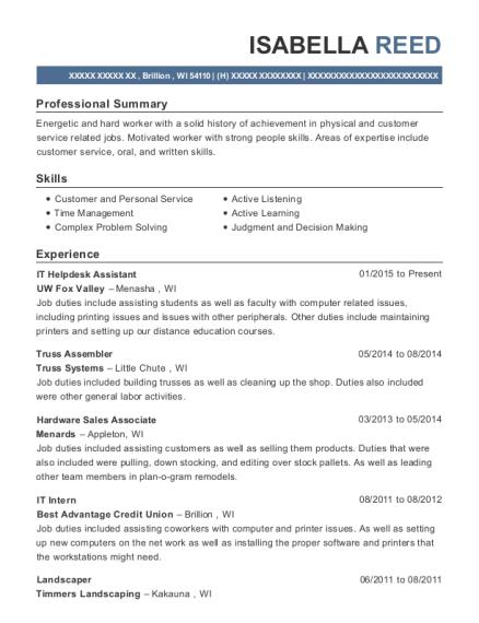 lowes hardware sales associate resume sample millersville maryland