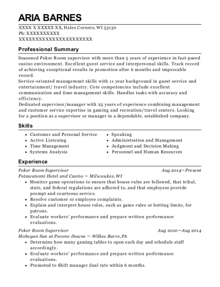 Best Campgrounds Manager Resumes | ResumeHelp