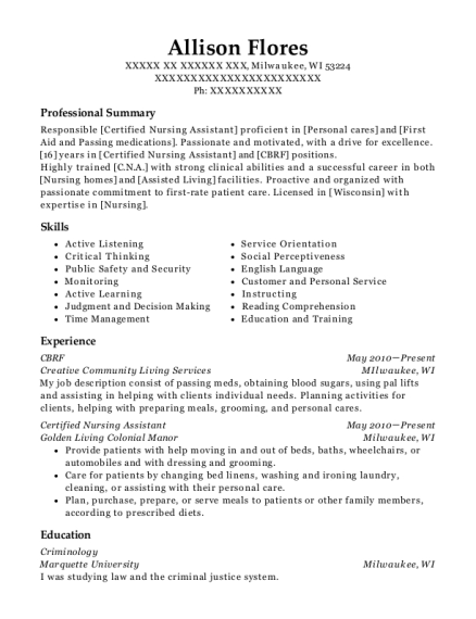 mkb house of hope cbrf resume sample