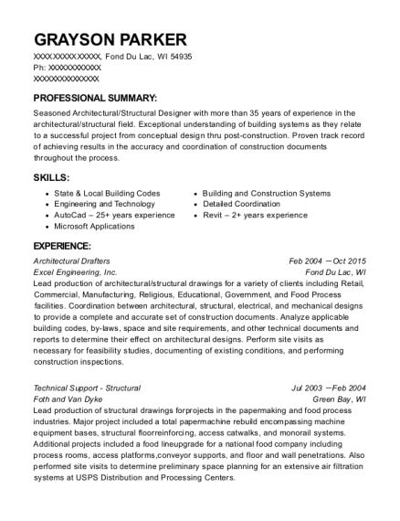 grayson parker - Architectural Drafter Resume