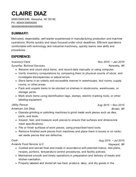 utility person resume