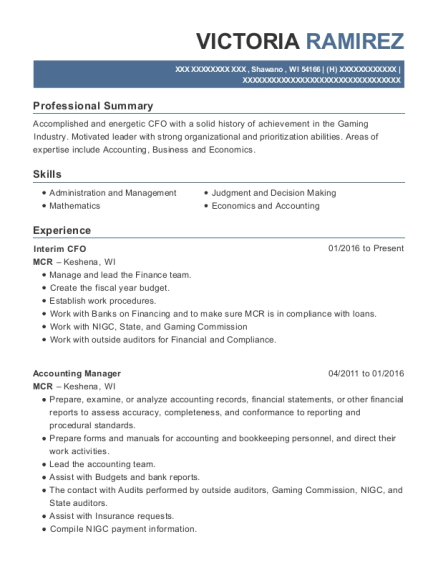 Best Finance Accountant Resumes | ResumeHelp